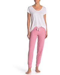 Flamingo Pajama Lounge Pants PJ Salvage Stretch Knit Sleepwear Tropical Bird