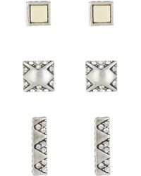 House of Harlow 1960 - Plateau Stud Earrings - Set Of 3 - Lyst