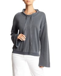 Stateside - French Terry Bow Detailed Pullover - Lyst