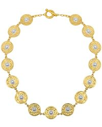 Karine Sultan - Coin Strand Necklace - Lyst