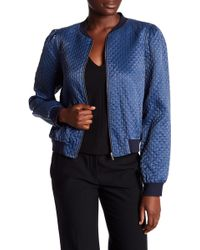 1.STATE - Quilted Indigo Bomber - Lyst