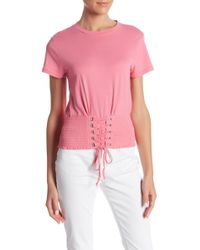 Romeo and Juliet Couture - Smocked Short Sleeve Tee - Lyst