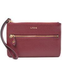 e0052431ba94 Lodis - Colleen Small Leather Wristlet Clutch - Lyst