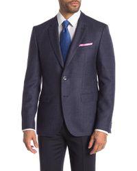 BOSS - Wool Textured Blazer - Lyst