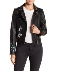 Fate - Embroidered Moto Jacket - Lyst