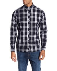 Jack & Jones - Thomas Plaid Print Slim Fit Woven Shirt - Lyst