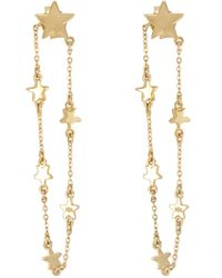 Melinda Maria - Star Chain Drop Front To Back Earrings - Lyst