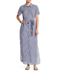 Sanctuary - Blue Dawn Shirt Maxi Dress - Lyst