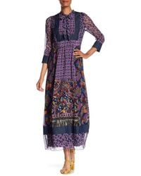 Anna Sui - Paisley Maxi Dress - Lyst