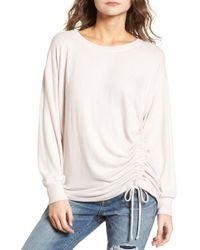 Treasure & Bond - Side Cinch Sweatshirt - Lyst