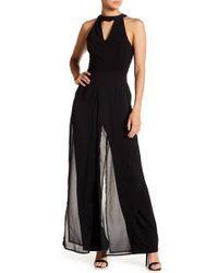 c2d168b23cb5 Lyst - Ivy   Blu Black And White Scarf Print Chiffon Sleeveless ...