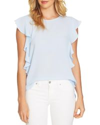 Cece by Cynthia Steffe - Cascading Ruffle Blouse - Lyst