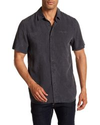 Volcom - Chill Out Short Sleeve Modern Fit Solid Woven Shirt - Lyst