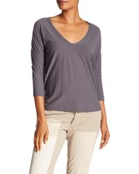 James Perse - V-neck Tee - Lyst