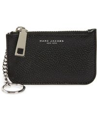 Marc Jacobs - 'gotham' Pebbled Leather Key Pouch - Lyst