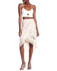 Sky - Neyda Tulip Wrap Fringe Skirt - Lyst