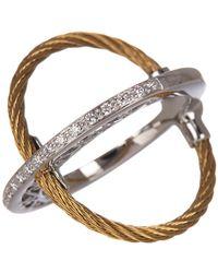 Alor - Diamond Accent Cable X Ring - Size 7 - 0.17 Ctw - Lyst