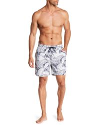 Tailor Vintage - Banana Leaves Print Swim Volley Trunks - Lyst
