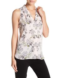 Vince Camuto - Storybook Floral Sleeveless Blouse (petite) - Lyst
