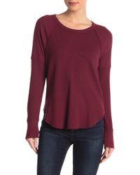 Splendid - Solid Long Sleeve Thermal Shirt - Lyst