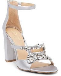 Badgley Mischka - Ganice Embellished Heeled Sandal - Lyst