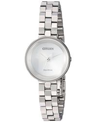 Citizen - Women's Eco-drive Quartz Stainless Steel Casual Watch - Lyst