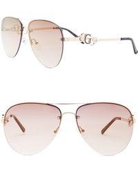 Guess - Women's Aviator Metal Frame Sunglasses - Lyst
