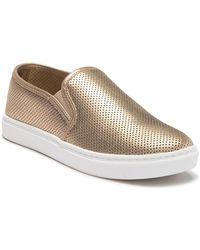 fec16abb608 Lyst - Steve Madden Glaammar Zip Embossed Sneaker in Pink