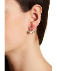 BaubleBar - Georgie Bezel Set Crystal Ear Jackets - Lyst