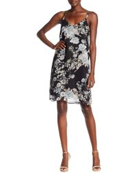 Dex - V-neck Printed Dress - Lyst