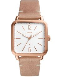 Fossil - Women's Micah Leather Strap Watch - Lyst