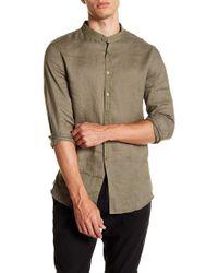 John Varvatos - Solid Linen Slim Fit Shirt - Lyst