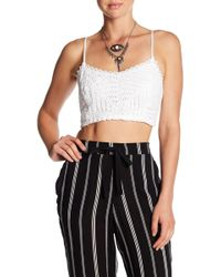 Band Of Gypsies - Crochet Cropped Camisole - Lyst