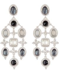 Judith Ripka - Sterling Silver Harmony Chandelier Earrings - Lyst