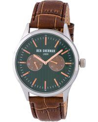 Ben Sherman - Men's Spitalfields Social Quartz Watch, 43mm - Lyst