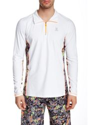 Psycho Bunny - Lounge Quarter Zip Performance Pullover - Lyst