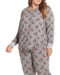 Pj Salvage - Cherry Pajama Top (plus Size) - Lyst