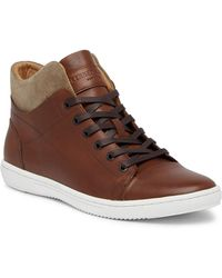 Kenneth Cole - Contrast Leather & Suede Sneaker - Lyst