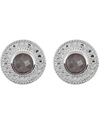 Anna Beck - Sterling Silver Grey Sapphire Stud Earrings - Lyst