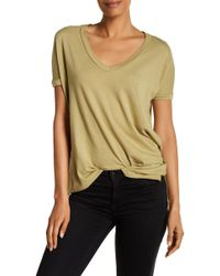 Michelle By Comune | V-neck Vented Hem Tee | Lyst