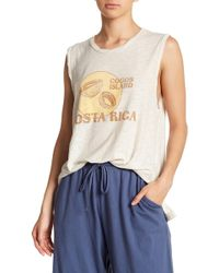 Michelle By Comune - Coconut Graphic Print Tee - Lyst