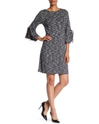 Max Studio - Marled Knit Bell Sleeve Dress - Lyst