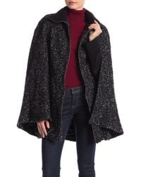 Laundry by Shelli Segal - Tweed Boucle Belted Cape - Lyst