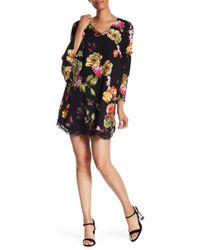 Philosophy Apparel - Floral Bell Sleeve Dress - Lyst