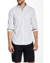 Kenneth Cole - Striped Long Sleeve Slim Fit Shirt - Lyst