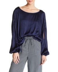 1824aad93d5f0e Lyst - Romeo And Juliet Couture High Neck Ruffle Textured Blouse in ...