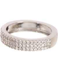 Argento Vivo - Sterling Silver Pave Cz Anniversary Band Ring - Lyst
