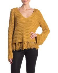 Somedays Lovin - On The Fly Fringe V-neck Sweater - Lyst