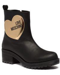 Love Moschino - Heart Applique Platform Bootie - Lyst