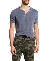 Lucky Brand - Short Sleeve Solid Knit Tee - Lyst